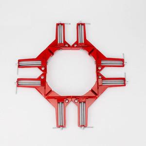 Угловой зажим 90 клипс для деревообрабатывающего инструмента Ручной зажим 90 градусов Столярные зажимы из дерева Вертикальный металлический прямоугольный зажим