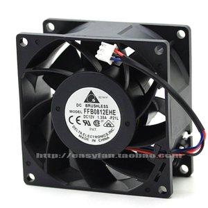 Новый оригинальный FFB0812EHE - P21L DC12V 1.35 A 8 см 3 провода двойной шарикоподшипник компьютер вентилятор охлаждения