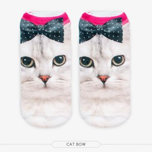 Wholesale-1 Pair 3D Print Sock Cute Cat Monkey Giraffe Dog Panda Animal Shape Socks Men Women Unisex Ankle Sock
