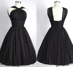 Günstige kurze Brautjungfernkleider Halfter ärmellose Reich A-Line Bridemaid Kleid Plus Size Real Photo Kleid nach Maß