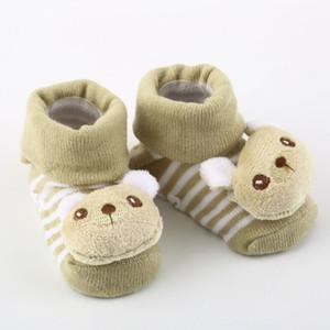 1 par con zapatillas antideslizantes con suela de goma Cartoon Baby Newborn Unisex Slipper Shoes Boots New