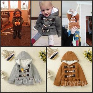 Nouveau Bébé Garçons Veste Vêtements D'hiver 2 Couleur Manteau Coton Épais Enfants Vêtements Vêtements Pour Enfants Avec Capuchon