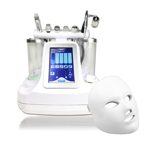 7 Colors LED Facial Mask Hydro Microdermabrasion Oxygen Spray Ultrasound RF BIO Face Lifting Cold Hammer 7 IN 1 Hydra Facial Machine