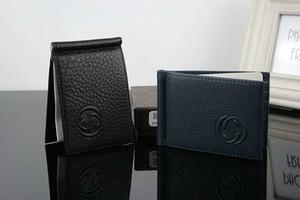남성 정품 가죽 머니 클립 지갑 남성 브랜드 카드 ID 홀더 달러 클립 신용 카드 케이스 가방 2017 신품 패션 지갑 여행