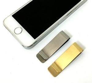 스테인레스 스틸 머니 클립 지갑 크리 에이 티브 포켓 지갑 슬림 카드 돈 지갑 남성 크리스마스 선물
