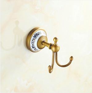 Antik Porzellan Messing Kleiderhaken der Wand befestigtes Badezimmer Hardwares Zubehör Kleiderhaken Kleiderhaken Kleiderhaken A-FN830
