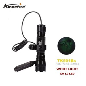 Torcia tattica 501B 2200Lm XM-L2 LED Torch Press Switch Mount Light Gun torcia