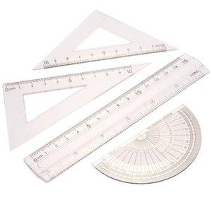 FS Chaud Étudiants Mathématiques Géométrie Papeterie Règle Set Squares Protractor commander $ 18aucun morceau