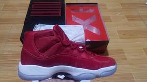 Chicago 11s Herren Basketballschuhe Gym Red Sneakers für Herren Lackleder 11s Damen Midnight Navy Blue Athletic 11 Trainer Come In Slide Box