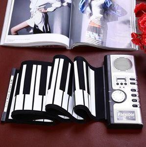 Hot Sale Portable Flexible 61 Keys Silicone MIDI Digital Soft Keyboard Piano Flexible Electronic Roll Up Piano
