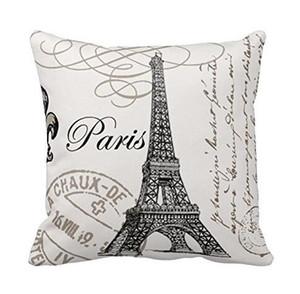 Vintage Paris eiffel tower oreiller housse de coussin taie d'oreiller décoration de la maison chaise décoration pour Home Decor canapé taie d'oreiller
