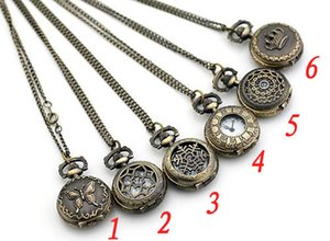 lot de 20pcs mélange style Antique Pocket montre avec chaîne, collier Classic Pocket Watches