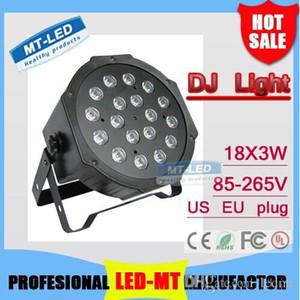 X24pcs Оптовая супер яркий высокой мощности высокого качества Сид DMX512 светильника головка 18x3w водить RGB равенства Сид света плоским DJ оборудование контроллер Бесплатная доставка