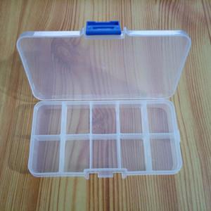 Contenitore di immagazzinaggio di plastica trasparente del compartimento del commercio all'ingrosso 10 per i contenitori di stoccaggio del contenitore dello strumento dell'orecchino dei gioielli
