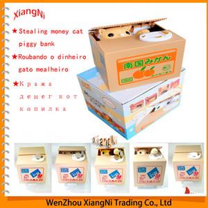 Venta caliente Novedad Producto Lindo Itazura Amarillo Blanco Panda Panda Coin Piggy Bank Caja de Dinero Automatizado 3 Modelos Regalos Envío gratis order $ 18no