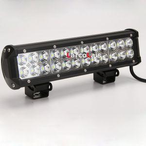 12 인치 72W 크리 어 LED 라이트 바 지프 트럭 트레일러 4 x 4 4 륜 SUV ATV 오프로드 자동차 9-32v LED 작동 빔 연필 확산 빔