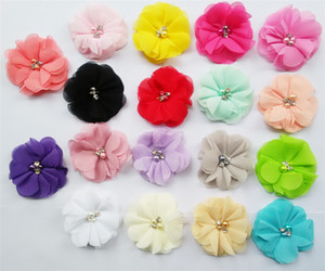Newborn Baby Girl Headbands Cute Colors Toddler Hair Accessories with Pearl Flower Hair Accessories Online New Arrival LY009