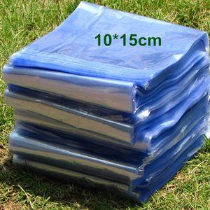 """10 * 15cm (3.9 * 5.9 """") 플라스틱 열 수축 할 수있는 부대 열려있는 정상 명확한 PVC 열 수축 평지 주름 필름 포장 포장 화장품 포장 포장 주머니"""