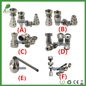 14mm & 18mm&19mm Adjustable Titanium Nail with male and female joint GR2 2 IN 1, 4 IN 1, 6 IN 1 TITANIUM NAIL Domeless Nail Wax Oil