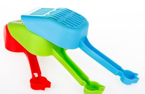 Wholesale-2016 Plastic Pet Cat Litter Shovel Grid-style Litter Tray Poop Sand shovel Scoop Sieve Scooper Pet Cleaning Supplies For Cat