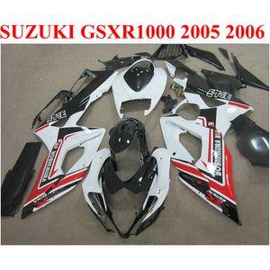 스즈키 GSXR1000 05 06 바디 키트 K5 K6 GSXR 1000 2005 2006 레드 화이트 블랙 페어링 키트 E1F9에 대 한 ABS 오토바이 페어링