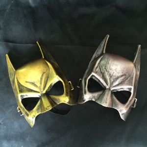 Перевозка груза DHL ретро маски Halloween Masquerade Batman партии Bat Eye Mask Hero Косплей костюмы Золото и серебро Один размер подходит для большинства взрослых