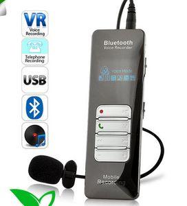 مسجل صوت Bluetooth لاسلكي للمكالمات الهاتف المحمول 8GB USB مسجل صوت رقمي مع مشغل MP3
