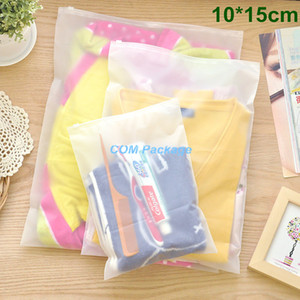 "10x15cm (3.9x5.9"" ) Mate Borrar memoria bolsa de plástico con cremallera sello bolsas de viaje de la cremallera de bloqueo de diapositivas sello de embalaje bolsa para la ropa cosmética"