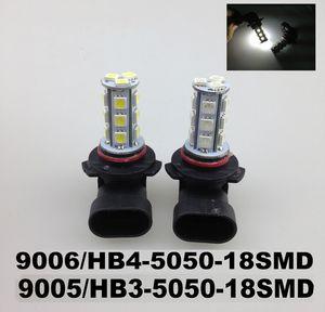Ampoule LED Car Light Ampoules LED Flog Light 9006 HB4 9005 HB3 5050 18SMD Ampoules Phares Fog LED Light 12V