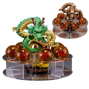 PrettyBaby Dragon Ball Z Action-Figuren viel Shenron Figur Shenlong PVC mit Dragon Ball Z Kristallkugel Set 4,5 cm Dragon Ball Regal vollen Satz