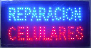 """Ücretsiz kargo sıcak satış customerized Animasyonlu LED REPARACION CELULARES BURCU BOYUTU BOYUTU 19x10 """"Led Neon TAMIR HÜCRESI CEPHE işaretleri"""