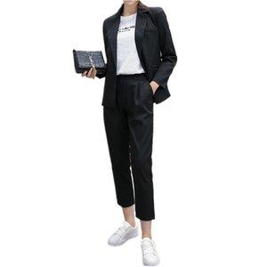 Las mujeres se adaptan a las mujeres de carrera de diseño de moda OL de carrera de las mujeres de alta calidad solapa personalizada de manga larga trajes de las mujeres
