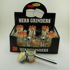 BULLET ROTATING PIPE stil tabak grinder metall herb grinder Rauchen Rohr schleifer pflanzliche tabak vaporizer neue stil