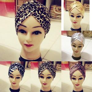 Al por mayor-Moda Soft Indian Style Yoga Headwrap Cap Turbante Cloche Chemo Hair Cover