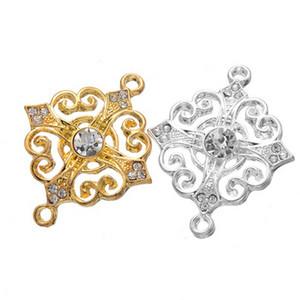 100 unids siver Cross Flower Charms colgantes conectores buenos para el arte de DIY, resultados de la joyería envío gratis