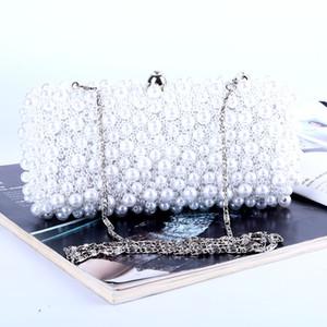 Atacado direto da fábrica nova marca artesanal perfeita frisada saco de noite com cetim para casamento / banquete / festa / porm
