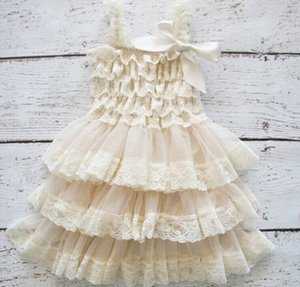 Wholesale Girl Dress Lace Chilffon Layered Slip Dress Fille TUTU Dress 0-8Y 0321 Pas Avoir Bandeau