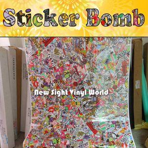 Premium JDM Euro Style Stickerbomb Vinilo Car Wrap Sticker Bombing Air Bubble Free Vehicle Wrap Graphics