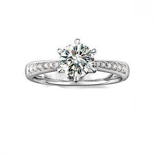100% 925 esterlina plata sona lab anillos de bodas de diamantes para las mujeres, oro blanco redondo brillante boda, anillo de bodas, banda de eternidad