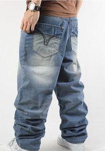Novo 2015 moda Homem solto jeans hiphop skate jeans calças largas calças jeans hip hop homens calças jeans 4 Estações big tamanho 30-44