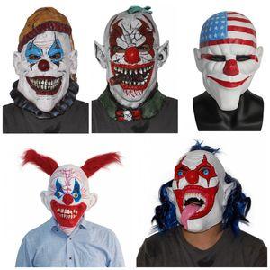 Nouveau style IT Pennywise Clown Masque De Latex Effrayant Mal Jester Clown Plein Visage Halloween Horreur Latex Masques