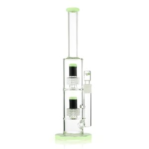 Hight Qualität 15,7 Zoll Ölbohrinsel Bong bunt dicke Glaswasserpfeife Recycler Bong mit Doppel percolator für Raucher Fabrikpreis