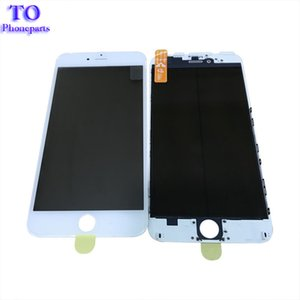 100Pcs Pantalla LCD de DHL gratis Frente Lente exterior de vidrio + Marco de cuadro y Película OCA Preinstalada para iPhone 6 Plus 6S 7 Plus