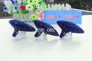 Océan Haute Qualité Bleu 12 Trous Ocarina Céramique Alto C Légende de Zelda Zelda Ocarina Flûte du Temps Jingdezhen en céramique ocarina en stock