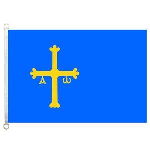 Gute Flaggen-Asturias-Flaggen Fahne 3X5FT-90x150cm 100% Polyester-Landesflaggen, 110gsm Warp-Gestrick-Gewebe-im Freien kennzeichnen