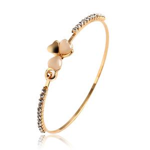 2015 Nouvelle Mode Bijoux Marque Conception Doux Plaqué Or Trèfle Opale Charme Bracelet Exquis Bracelets Bracelet Pour Femmes Chaude PT36