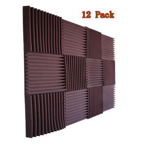 """12 UNIDS Estudio de Espuma Acústica Cuña Panel Insonorizado Aislamiento de Esponja Estudio de Grabación Cancelación de Ruido 12x12x1 """""""