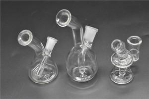 Barato de Viagem Mini Vidro Bongs Dab Rigs Com 10mm / 14mm Feminino Conjunta Claro Barato Reciclador De Vidro Pequenas Tubulações De Água De Vidro Plataformas de Petróleo