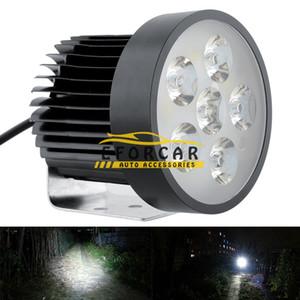 6 LED 18W Faro de la motocicleta Luz principal Luz antiniebla de conducción Lámparas del proyector de trabajo Lámpara de luz nocturna de seguridad