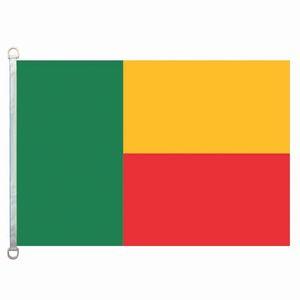 Bandera de la bandera de Benin 3X5FT-90x150cm 100% poliéster, 110gsm bandera hecha punto deformación tela exterior